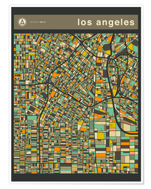Premiumposter  LOS ANGELES - Jazzberry Blue