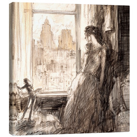 Canvastavla  View from the window - Henri Patrick Raleigh
