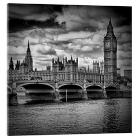 Akrylglastavla  LONDON Houses of Parliament & Westminster Bridge - Melanie Viola