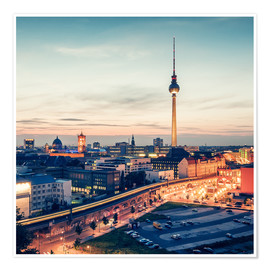 Premiumposter Berlin Skyline