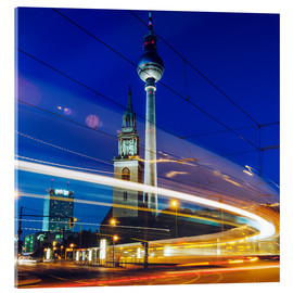 Akrylglastavla  Berlin - TV Tower / Light Trails - Alexander Voss