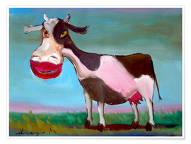 Premiumposter Snazzy cow