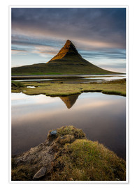 Poster Peaceful Sunset Kirkjufell