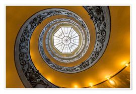 Premiumposter Spiral staircase in the Vatican Museum, Italy
