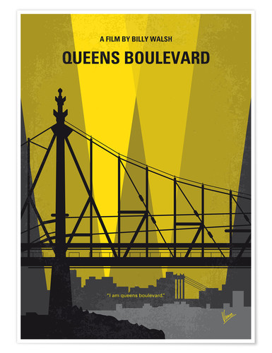 Poster No776 My Queens Boulevard minimal movie poster