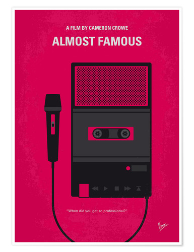 Poster No781 My Almost Famous minimal movie poster