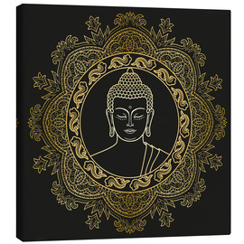Canvastavla  Buddha in golden mandala