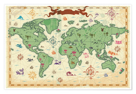 Poster treasure map