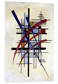 Akrylglastavla  Sign with accompaniment - Wassily Kandinsky
