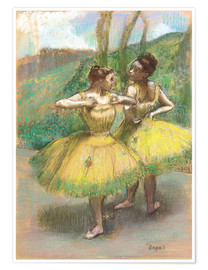 Premiumposter Dancers with Yellow Dresses