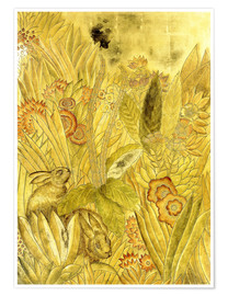 Premiumposter  Rabbits and Flowers - Jean Dunand