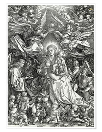 Premiumposter The Virgin and Child surrounded by angels