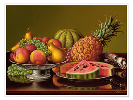 Premiumposter  Still Life with Fruit - Levi Wells Prentice