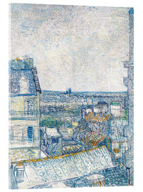 Akrylglastavla  View from the Artist's Window, Rue Lapic - Vincent van Gogh
