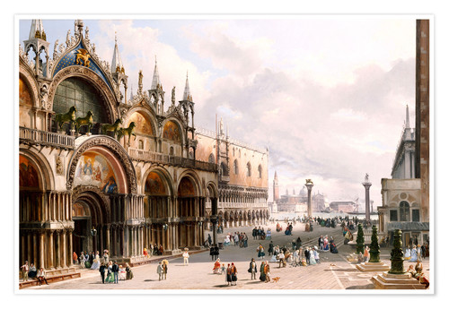 Premiumposter The Basilica di San Marco and the Doge's Palace in Venice