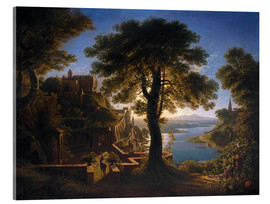 Akrylglastavla  Castle on the River - Karl Friedrich Schinkel
