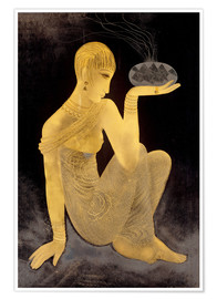 Premiumposter Perfume girl with a censer