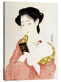 Canvastavla  A Woman in Underclothes - Goyo Hashiguchi