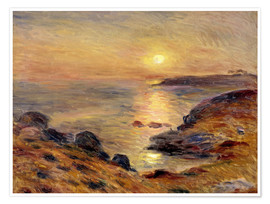 Premiumposter  The Setting of the Sun at Douarnenez - Pierre-Auguste Renoir