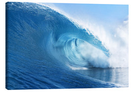 Canvastavla  Blue Ocean Wave