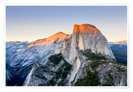Premiumposter Half Dome at sunset