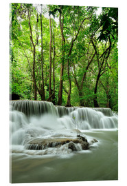 Akrylglastavla  Waterfall in forest of Thailand