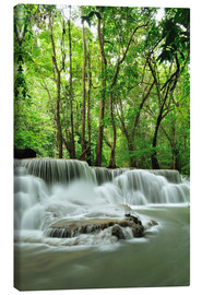 Canvastavla  Waterfall in forest of Thailand
