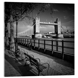 Akrylglastavla  LONDON Tower Bridge - Melanie Viola