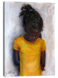 Canvastavla  lexa with yellow shirt - Jonathan Guy-Gladding