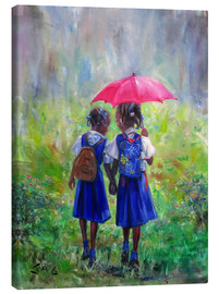 Canvastavla  magenta umbrella - Jonathan Guy-Gladding
