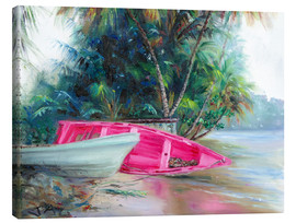 Canvastavla  pink boat on side - Jonathan Guy-Gladding
