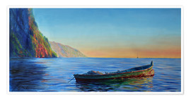 Premiumposter  base of petit piton with gommier boat - Jonathan Guy-Gladding