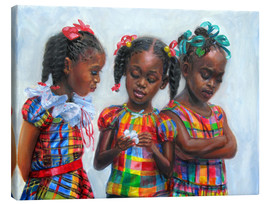 Canvastavla  three girls - Jonathan Guy-Gladding