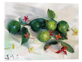 Akrylglastavla  guavas and ixora2 - Jonathan Guy-Gladding