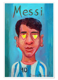 Premiumposter Messi and heart