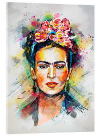 Akrylglastavla  Frida Flower Pop - Tracie Andrews