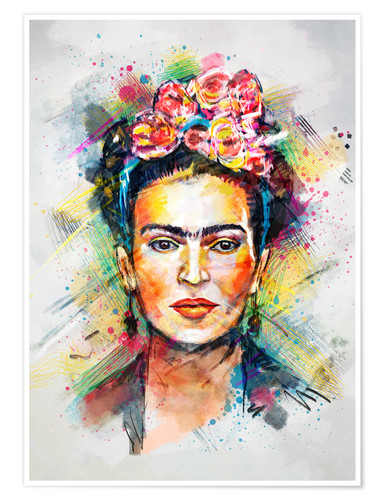Poster Frida Flower Pop