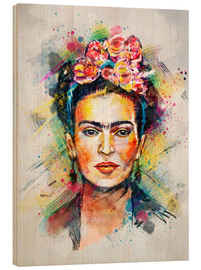 Trätavla  Frida Flower Pop - Tracie Andrews