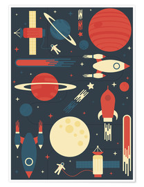 Premiumposter  Space Odyssey - Tracie Andrews