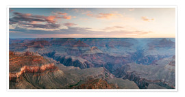 Premiumposter  Panoramic sunrise of Grand Canyon, Arizona, USA - Matteo Colombo