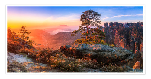 Premiumposter View into the Saxon Switzerland III