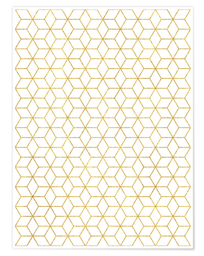 Premiumposter Gold Geometric
