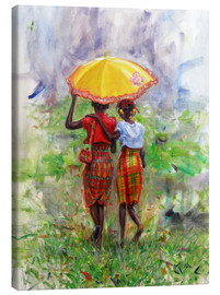 Canvastavla  yellow parasol - Jonathan Guy-Gladding