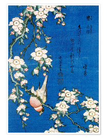 Premiumposter  Bullfinch and weeping cherry - Katsushika Hokusai