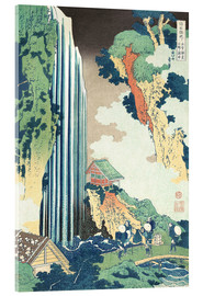 Akrylglastavla  Ono Waterfall on the Kisokaido - Katsushika Hokusai