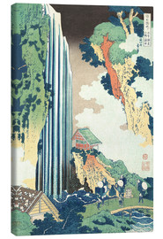 Canvastavla  Ono Waterfall on the Kisokaido - Katsushika Hokusai