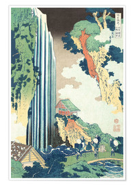 Premiumposter  Ono Waterfall on the Kisokaido - Katsushika Hokusai