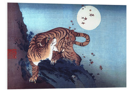 PVC-tavla  Tiger and the Moon - Katsushika Hokusai