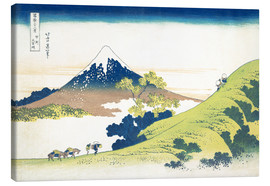 Canvastavla  The Inume Pass in Kai Province - Katsushika Hokusai
