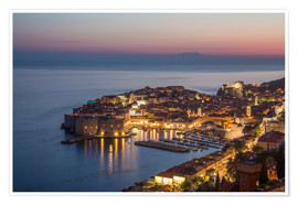 Premiumposter  Dubrovnik at Sunset - Mike Clegg Photography